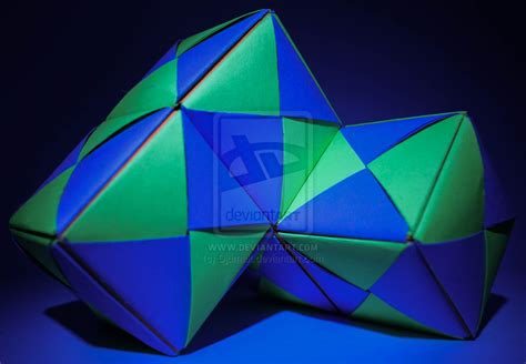 Puzzle Origami - origami puzzle block 4 by djumak on deviantart