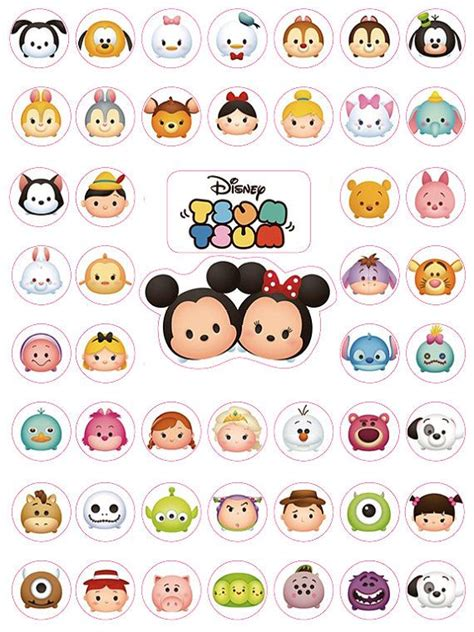 Label Stiker Nama Water Proof Size M Gg Bond 145 best tsum tsum images on anniversary cakes birthday cakes and birthday cookies