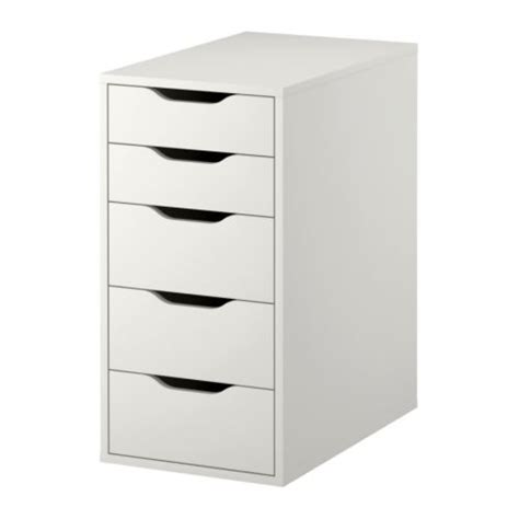 Small Desk With Drawers Ikea Alex Drawer Unit White Ikea