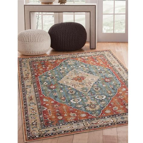 sams area rugs sams international sonoma jewels aqua 5 ft 3 in x 7 ft 6 in area rug 7068 5x8 the home depot