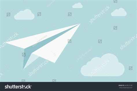 How To Make A High Flying Paper Airplane - white flying high paper plane on stock vector 267812150