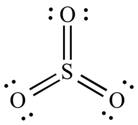 sulfur dot diagram image gallery sulfur trioxide