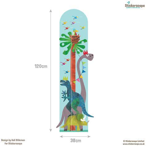 height chart wall stickers dinosaur height chart wall sticker height chart wall