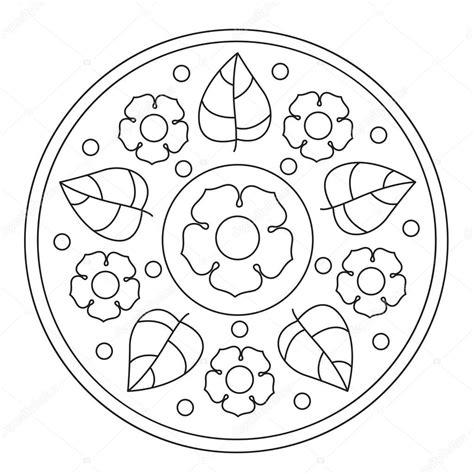 disegni semplici di fiori disegni da colorare mandala fiori semplici vettoriali