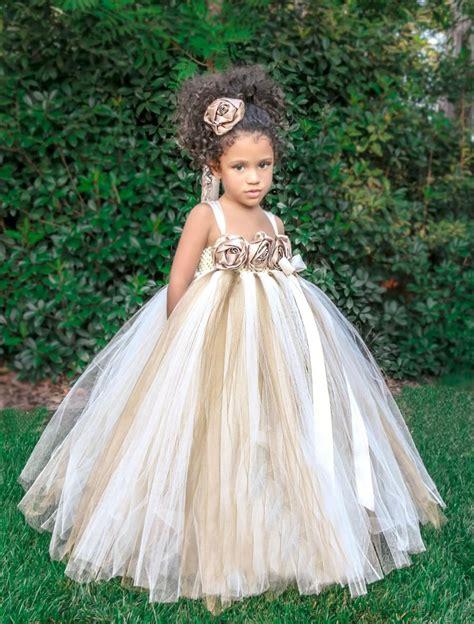 Dress Tutu Gold Size 4 6 Th ivory gold chagne flower dress ivory flower tutu dress gold tutu dress tutu