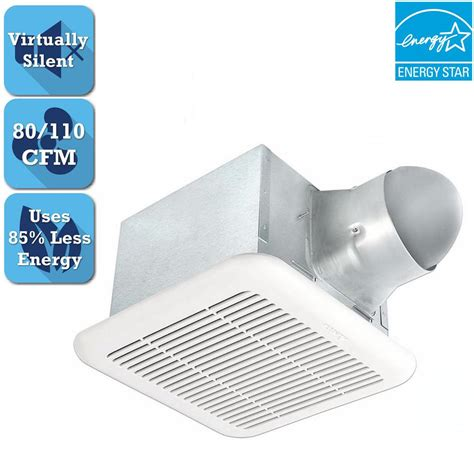 110 cfm bathroom fan delta breez signature series 80 110 cfm ceiling bathroom