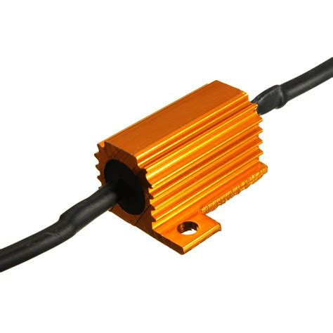 resistor for led on 12v 4x 25w 12v car bike load resistor fix led bulb hyper flash turn signal blinker ebay