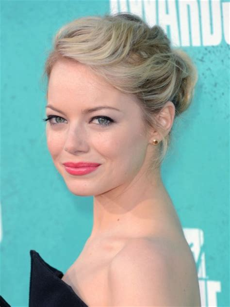 emma stone updo hairstyles emma stone updo hairstyles for prom popular haircuts