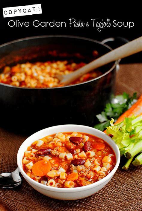 Olive Garden Pasta E Fagioli Soup Recipe by Copycat Olive Garden Pasta E Fagioli Soup Recipe Pasta E Fagioli Olive Garden Pasta And