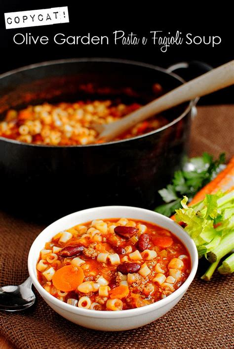 copycat olive garden pasta e fagioli soup recipe pasta