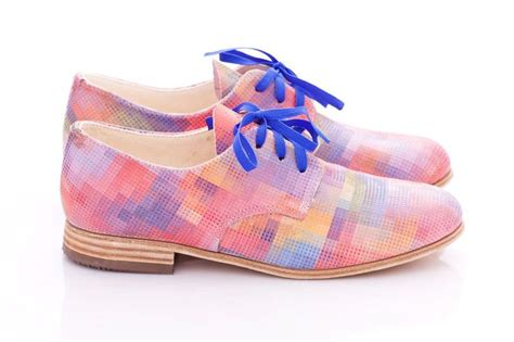 pastel oxford shoes for summer pastel pixels leather womens oxford