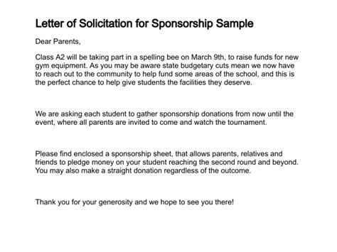 Sponsorship Letter For Annual Dinner Lucky Draw Letter Of Solicitation