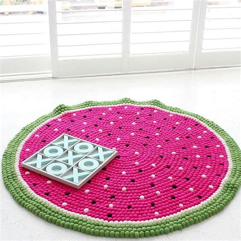watermelon rug 25 best ideas about felt rug on felt felt garland and diy rugs