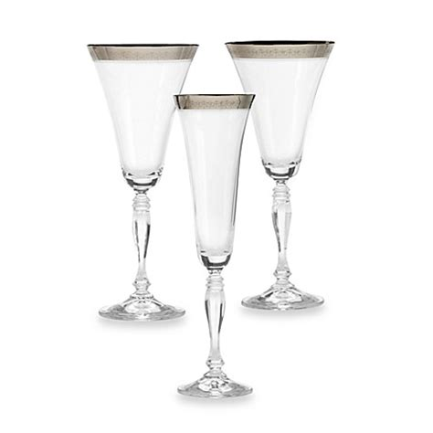 mikasa crystal barware mikasa 174 platinum crown crystal stemware bed bath beyond