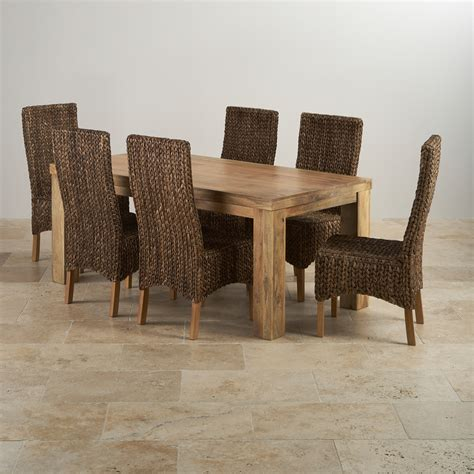 high table with 6 chairs mantis light dining set in mango dining table 6