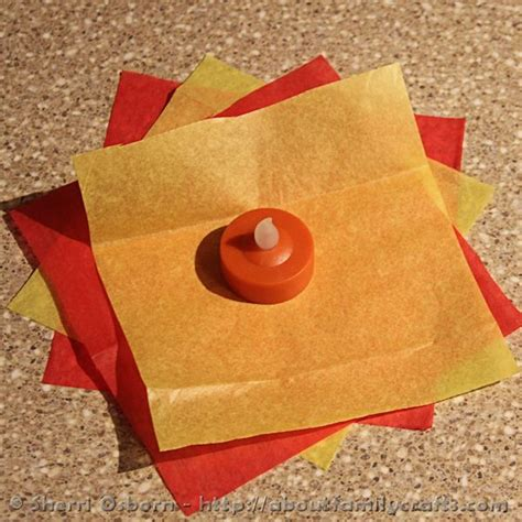 How To Make Tissue Paper Flames - how to build a cfire about family crafts crafts