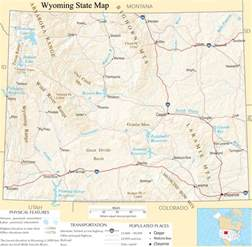 Map Of Wyoming State by Wyoming State Map A Large Detailed Map Of Wyoming State Usa