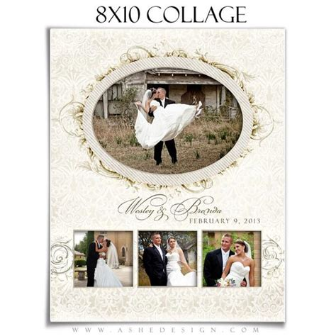 i do 8x10 wedding collage template ashedesign
