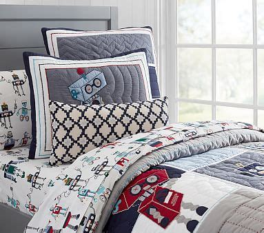 Robot Quilted Bedding Pottery Barn Kids Robot Crib Bedding