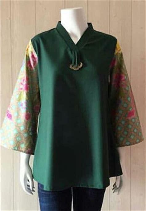 Kinanti 2 Blouse Batik Jual Batik Ima Blouse Tenun Blus Kinanti Disiko