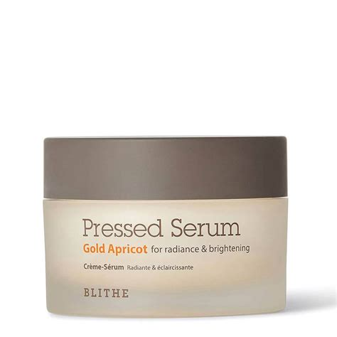 Serum Gold Glow Glowing blithe pressed serum gold apricot radiance brightening
