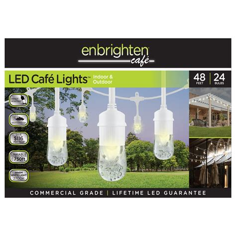 enbrighten led cafe lights enbrighten 174 cafe lights led cafe lights indoor outdoor