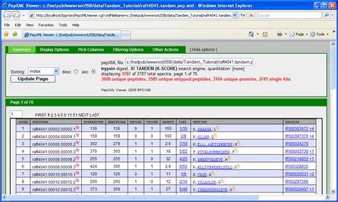 xml tutorial in php tpp tandem search spctools
