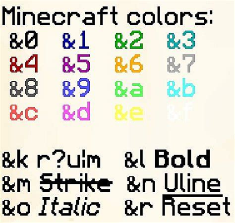 image gallery minecraft colors