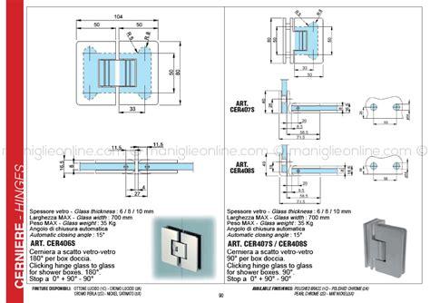 cerniere per box doccia cerniera a scatto per box doccia vetro vetro chiusura a 0