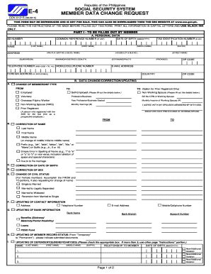 sss  form fill  printable fillable blank