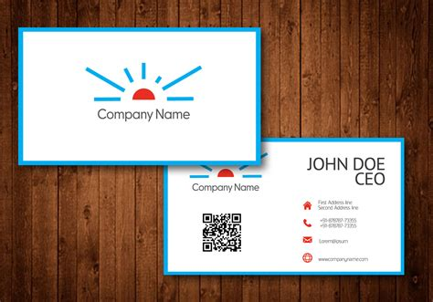 business card template with logo free sun logo business card template vector free