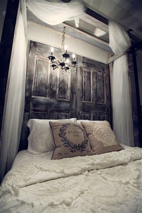 wooden door headboard diy wooden headboard ideas get the rustic look decozilla