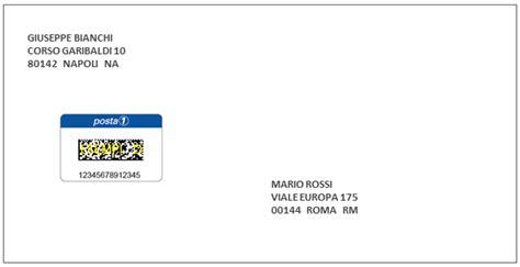 lettere da spedire codice bidimensionale posta1 spedire in italia poste