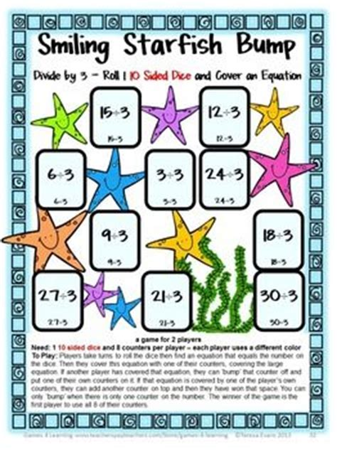 printable division math games printable division games for 3rd graders math division