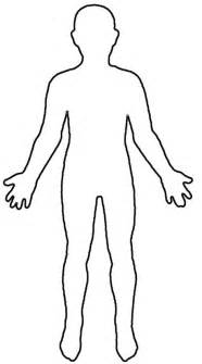 human figure template human outline for preschool ideas my