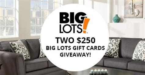 Big Lots Gift Card - 250 big lots gift card giveaway from dealsplus