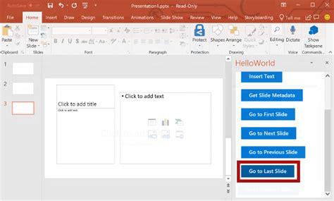 tutorial powerpoint doc powerpoint add in tutorial microsoft docs