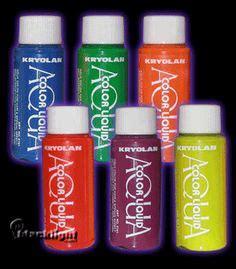 k5161 kryolan uv reactive aquacolor liquid temporary hair dye good hair dyeing products on pinterest temporary hair