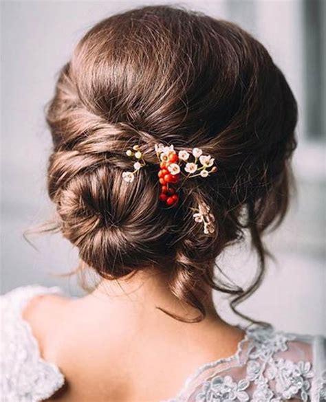 Pretty Bun Hairstyles by Low Bun Pretty Wedding Hairstyles 2015 2016 Dose