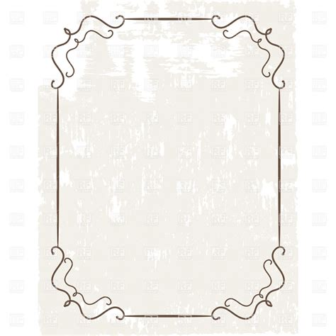 cornici powerpoint simple vintage frame on grungy background vector image
