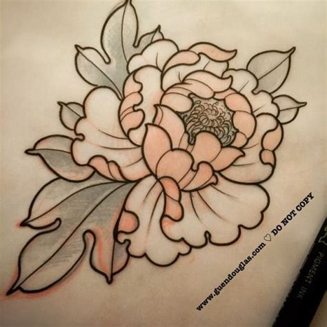 peony tattoo drawing www pixshark com images galleries