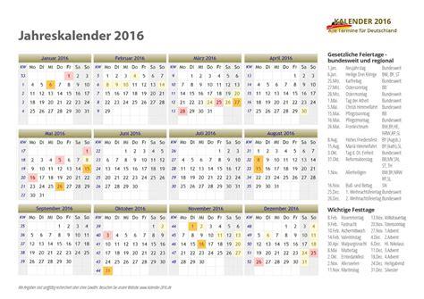 Kalender 2016 Jahres Bersicht Kalender 2016 Zum Ausdrucken Pdf Vorlagen