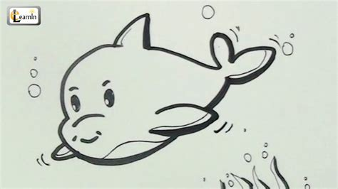 how to do easy doodle how to draw a dolphin drawing for children