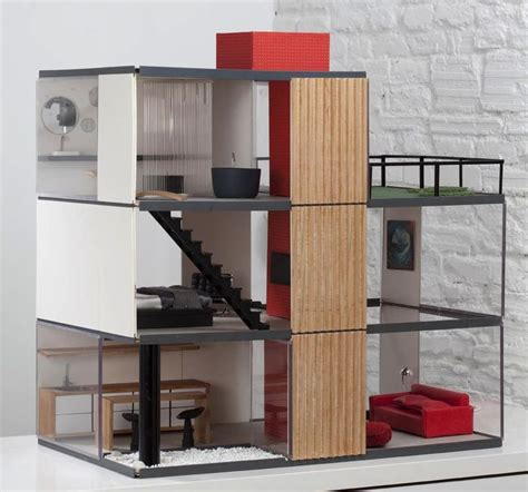 modern dollhouse modern dolls house mini rooms model homes pinterest