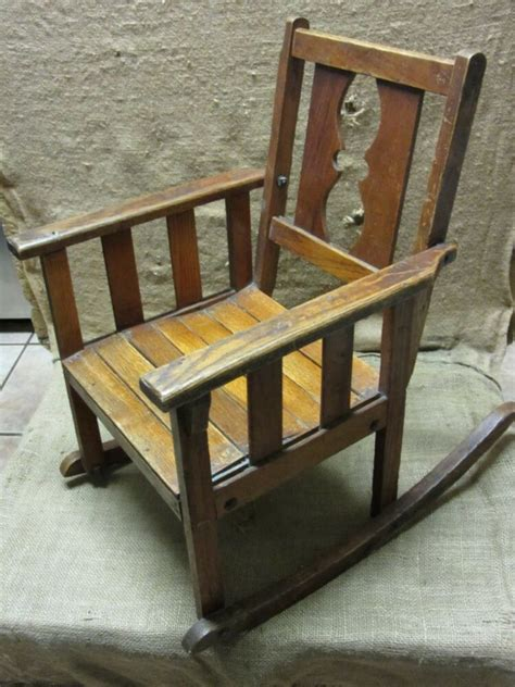 Childs Chair - vintage childs wooden rocking chair gt antique stool