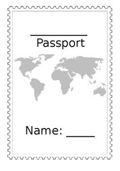 Editable Passport Template By Emily S Teachers Pay Teachers Editable Passport Template