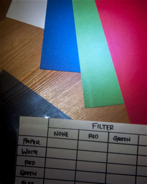 science project on light light absorption and color filters science project