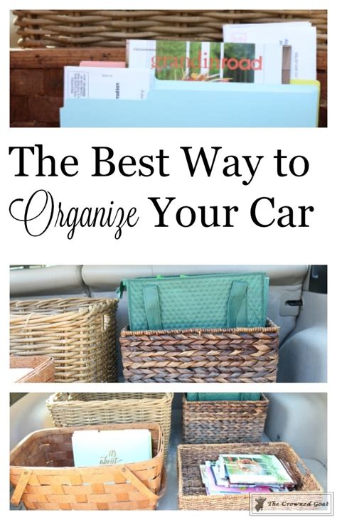 the best way to organize your car the crowned goat