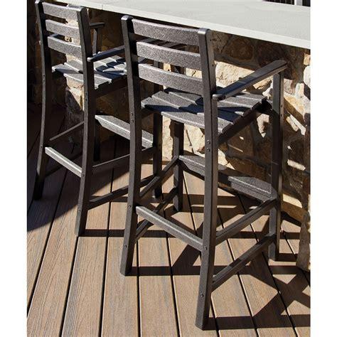 trex outdoor furniture monterey bay bar height arm chair monterey bay trex outdoor