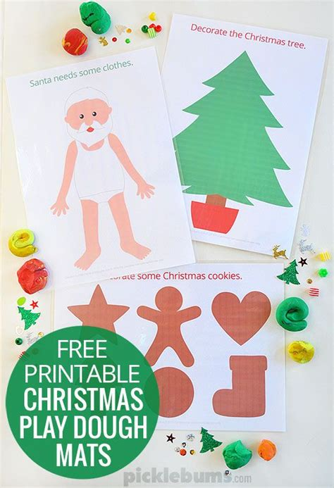 printable christmas playdough mats play dough mats play dough and free printable on pinterest